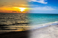 A florida beach at day/sunset Stock Images