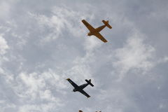 Florida beach Navy planes. New smyrna beach navy planes Stock Photo