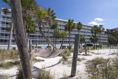 Florida beach resort and palm trees Stock Photo