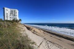Florida beach restoration project Royalty Free Stock Photo