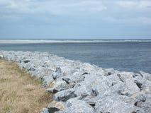 Florida beach with rocks Royalty Free Stock Photo