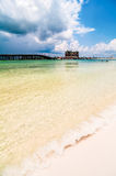 Florida beach scene Royalty Free Stock Images