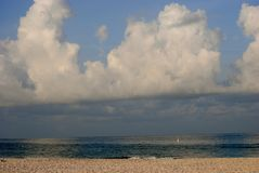 Florida Beach. St Petersburg Beach in Florida, just after dawn Royalty Free Stock Photo