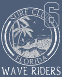 Florida Beach typography, t-shirt graphics, vectors Stock Photos