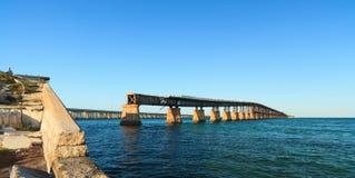 Florida befestigt Brücke Bahia-Honda Stockfotos