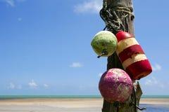 Florida befestigt Seeansicht mit alte Schutzvorrichtung buntem buo Stockfotos