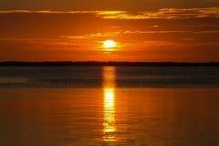 Florida befestigt Sonnenuntergang Stockfoto