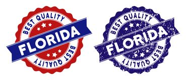 Florida Best Quality Stamp with Scratched Style vector illustration