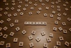 Florida bokstäver Fotografering för Bildbyråer