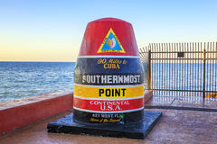 Florida Buoy sign Royalty Free Stock Images