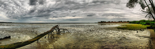 Florida Clearwater Bay. This is the bay in Clearwater Florida done in HDR Royalty Free Stock Photography