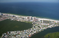 Florida Coastline. Aerial View of Florida Beach - west coast, central Florida Royalty Free Stock Photos