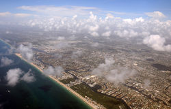 Florida coastline from above Stock Images