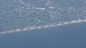 Florida coastline aerial stock video footage