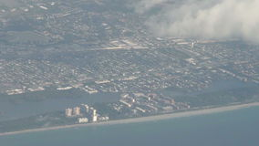 Florida coastline aerial view Royalty Free Stock Photography