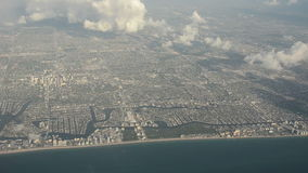 Florida coastline aerial view Royalty Free Stock Photo
