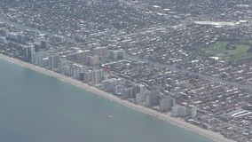 Florida coastline. And beaches seen from high altitude stock footage