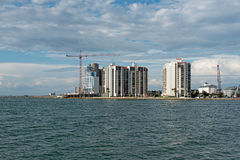 Florida Coastline Hotels Construction Royalty Free Stock Images