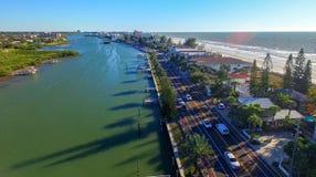 Florida coastline near St Petersburg.  Royalty Free Stock Image