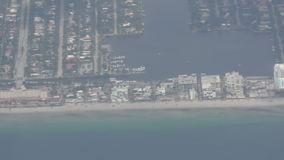 Florida coastline stock video footage