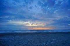 Florida cocoa beach sunset Royalty Free Stock Image