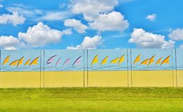 Florida colorful noise barriers design Royalty Free Stock Image
