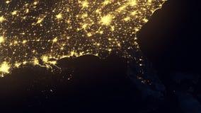 Florida come visto da spazio dopo l'uragano video d archivio