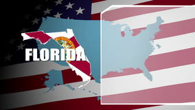 Florida Countered Flag and Information Panel stock video footage