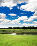 Florida countryside near a golf course Stock Photo