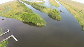 Florida Everglades aerial view Stock Photos