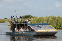 Florida Everglades Airboat. One of many airboat companies taking tourists out to the Everglades National Park for a wildlife tour royalty free stock images