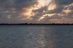 Florida fecha o por do sol da Multi-cor Imagens de Stock