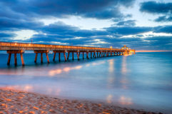 FLORIDA-FISCHEN-PIER Lizenzfreies Stockbild