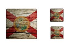 Florida flag Buttons Stock Images