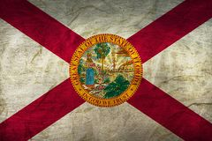 Florida Flag on Paper. Flag on an old Paper Texture Stock Photography