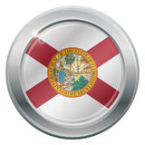 Florida Flag Silver Icon Royalty Free Stock Images
