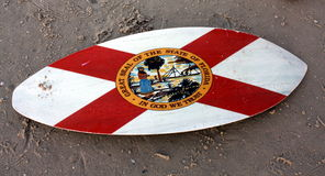 Florida Flag Surfboard Stock Image