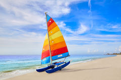 Florida fort Myers beach sailboat in USA Royalty Free Stock Image