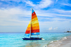 Florida fort Myers beach sailboat in USA Royalty Free Stock Images