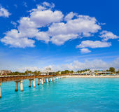 Florida Fort Myers Pier beach US Stock Images