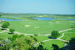 Florida golf course and cloud Royalty Free Stock Photo
