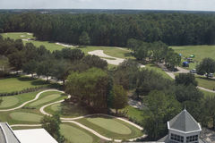 Florida Golf Course Flyover 3 Stock Photography