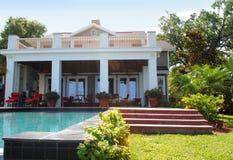 Florida-Haus mit Pool Stockfotografie