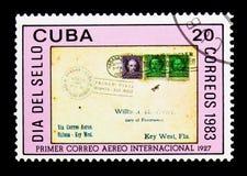 Florida-Havana-Abdeckung, Stempel-Tag-serie, circa 1983 Stockfoto