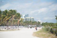 florida Het strand van Miami Royalty-vrije Stock Afbeeldingen