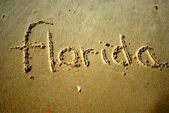 Florida in het zand Stock Afbeelding