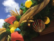 Florida Holiday Garland Stock Photo