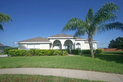 Florida Home. A home in Florida with blue sky Stock Photography