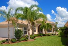 Florida home. In gated community Stock Image