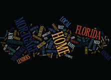 Florida Home Mortgages Text Background  Word Cloud Concept
